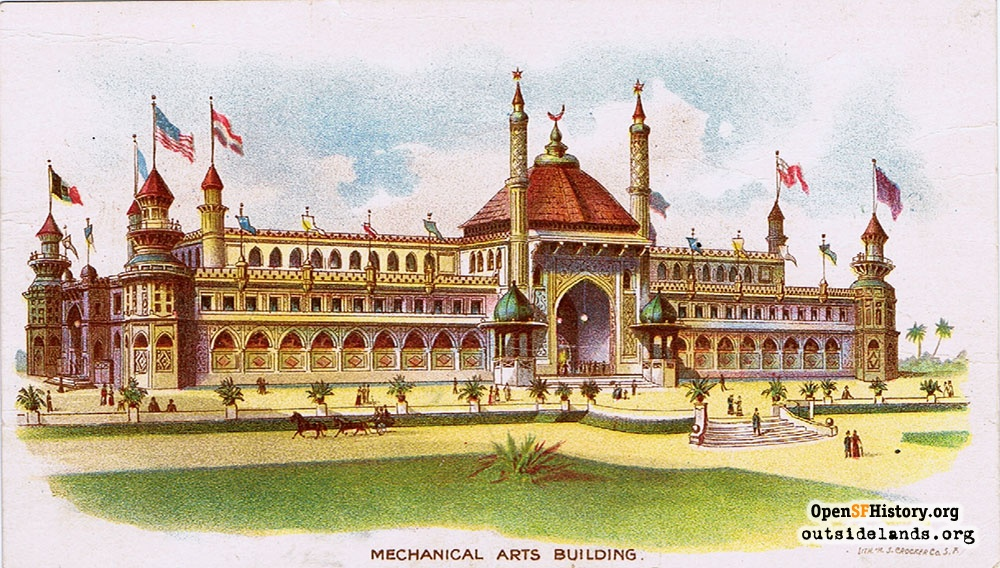 Mechanical Arts Building at the 1894 Midwinter Fair