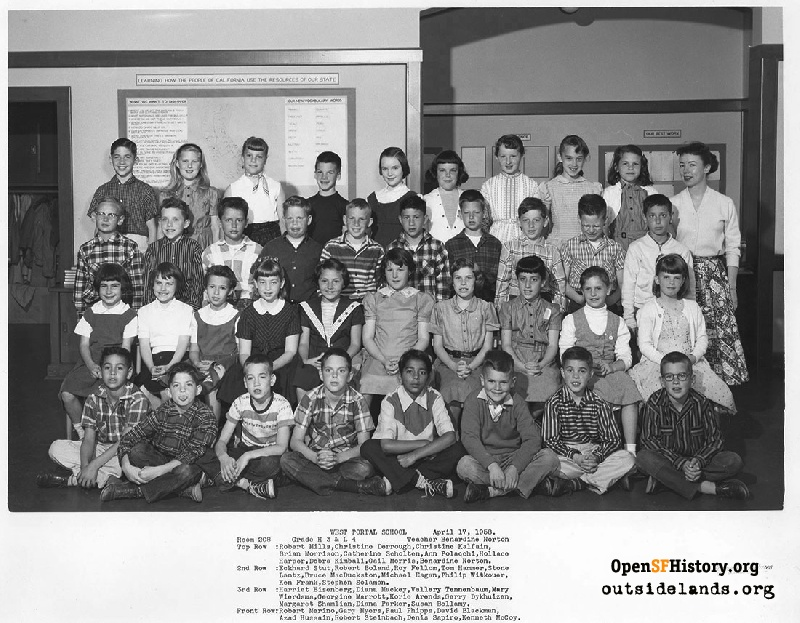 West Portal 1958 High 3rd, Low 4th Grade