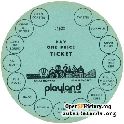 Playland Ticket