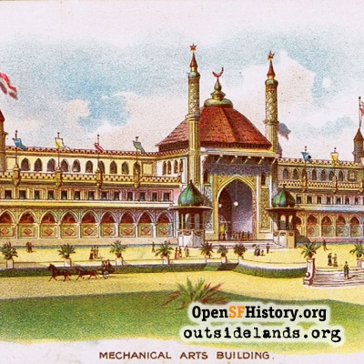 Mechanical Arts Building from 1894 Midwinter Fair