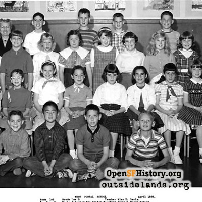 West Portal 1959 Fifth Grade