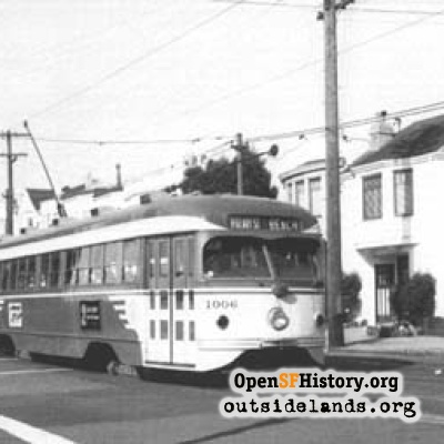 B car at 33rd Avenue 1950s