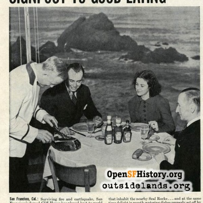 Cliff House ad, 1940s
