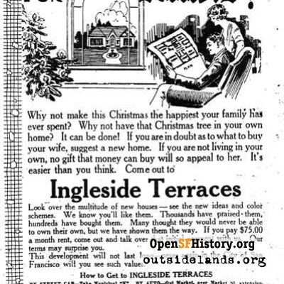 Ingleside Terraces ad, 1923