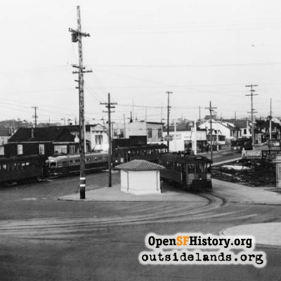 Judah Street and Great Highway, 1940