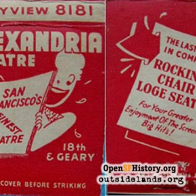 Alexandria Theatre matchbook