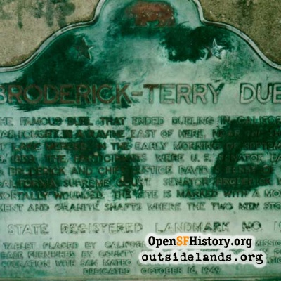 Broderick-Terry Duel Site