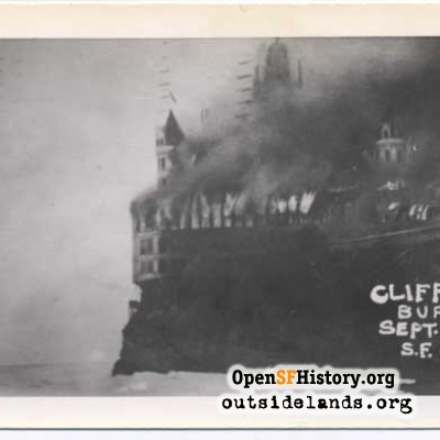 Cliff House burning