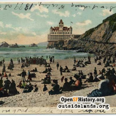 Cliff House and beach, 1907