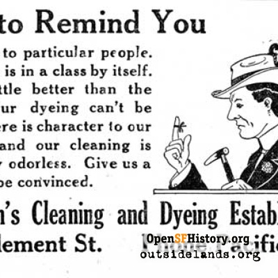 Claussen's Cleaning & Dyeing, 1920