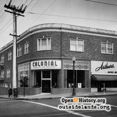 Colonial Savings on West Portal Avenue, 1950s