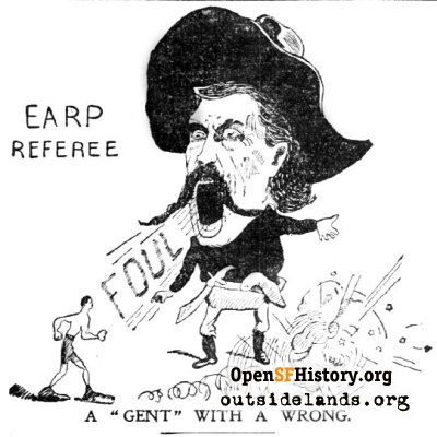 Wyatt Earp the Referee, 1896