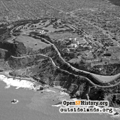 Aerial of Ft. Miley and Lands End