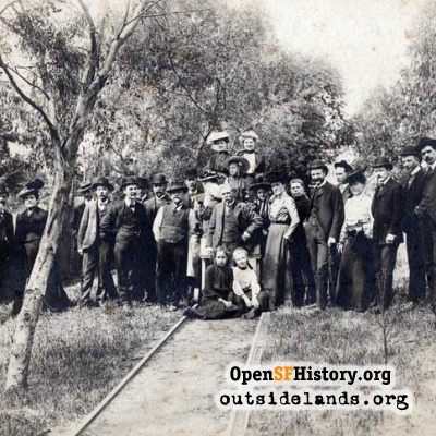 Larsen Family at Larsen Chicken Ranch, 1900s