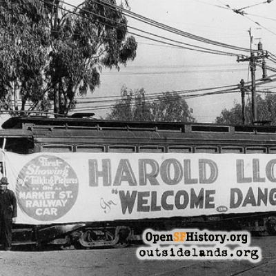 Harold Lloyd Movie on a Streetcar