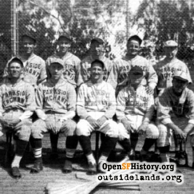 Parkside Merchants Baseball, June 1936