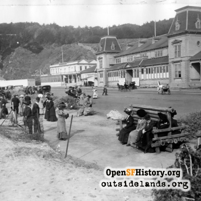 Ocean Beach Pavilion and Great Highway, circa 1910