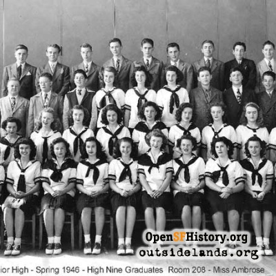 Presidio Junior High Graduates, 1946