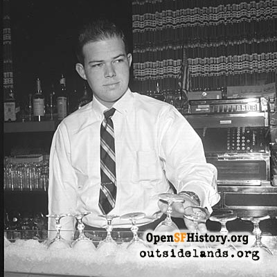 Bartender at Ranch House Dinners, 1953