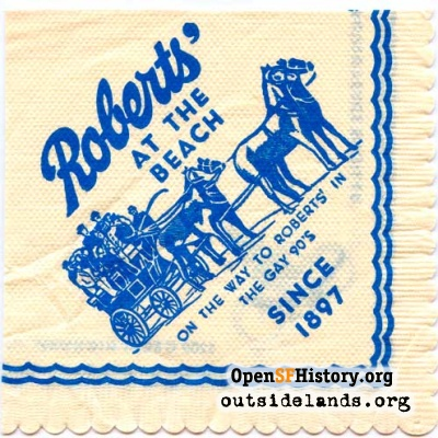 Roberts cocktail napkin