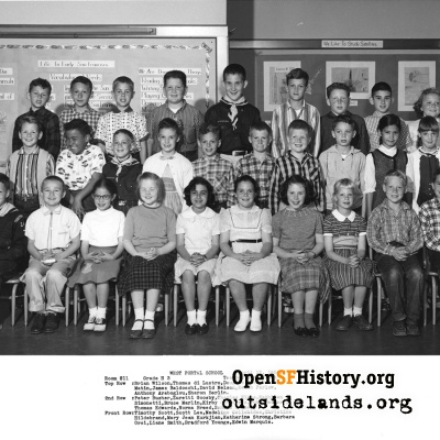 West Portal 1958 High Third Grade