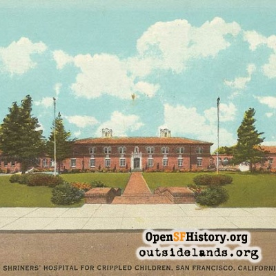 Shriners Hospital postcard