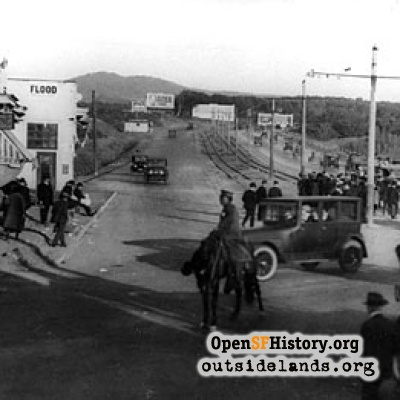Sloat Boulevard at Great Highway, 1921