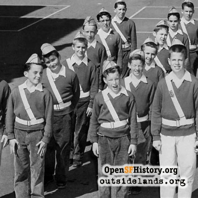 St. Cecilia School Traffic Boys, 1950s