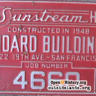 Sunstream Home Job Number plate