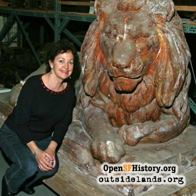 Sutro Heights Lion, 2005