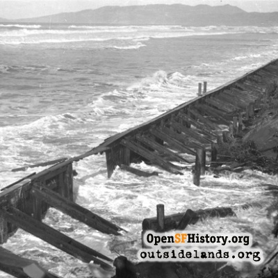 Storm Damage at Taraval, 1939