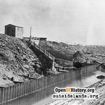 Seawall Construction at Taraval, 1941