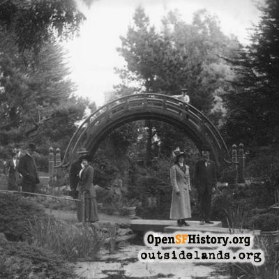 Moon Bridge, Japanese Tea Garden, early 1900s