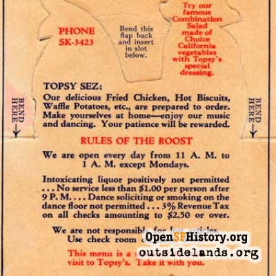 Topsy's Roost Postcard, 1930