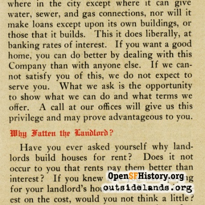 Urban Realty Improvement Co. Pamphlet