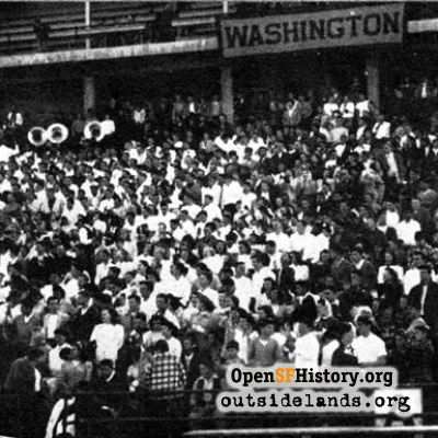 1947 Washington High crowd