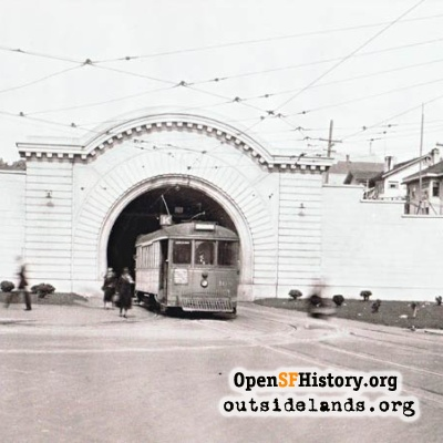 West Portal of Twin Peaks Tunnel, 1920s