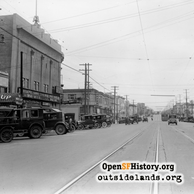 18th Avenue and Geary Street, 1920s