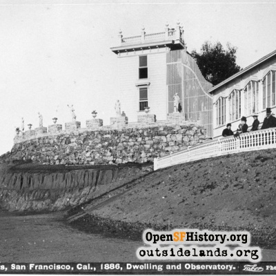 Sutro Heights. Sutro's residence, Parapet, and Observatory