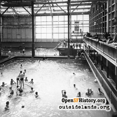 Sutro Baths. Swimmers in small tank #6