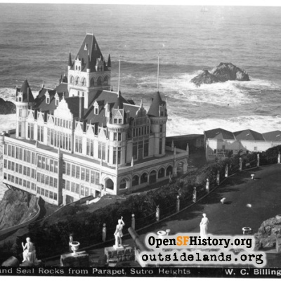 Second Cliff House. Viewed from Sutro Heights Observatory