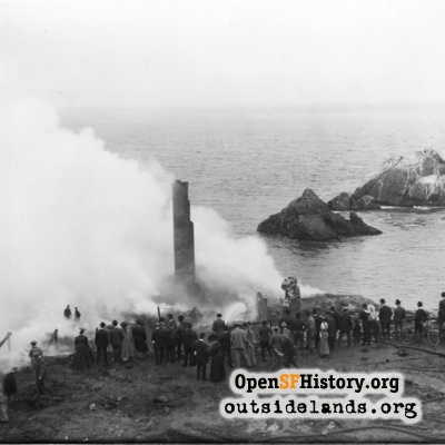 Second Second Cliff House. Charred ruins following fire