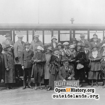 Parlor Car Tour Group at Cliff House