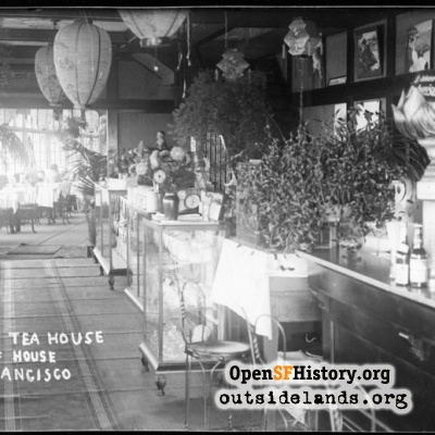 Cliff House. Interior of Japanese Tea House