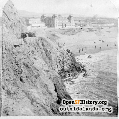 Ocean Beach. View looking southeast from the Cliff House