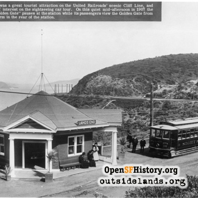 Lands End Station, on the Cliff Line streetcar line