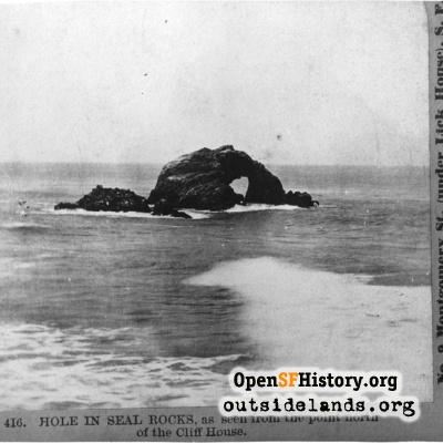 Seal Rocks. Arch Rock viewed from Point Lobos