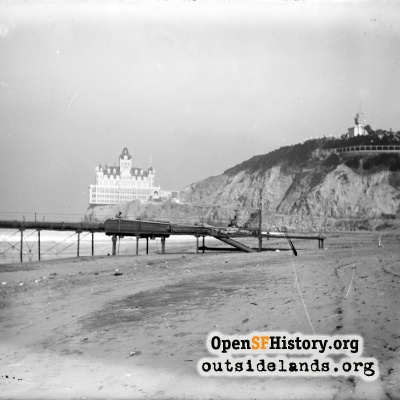 Lurline Pier and Second Cliff House