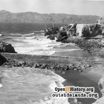 SS Ohioan at Point Lobos