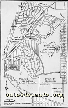 1914 map of West of Twin Peaks tracts